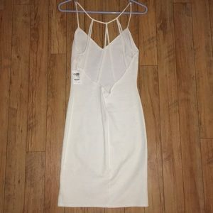 NWT Charlotte Russe bodycon white dress